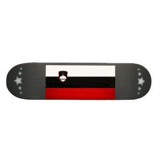 Monochrome Slovenia Flag Custom Skateboard