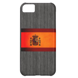 Monochrome Spain Flag Cover For iPhone 5C