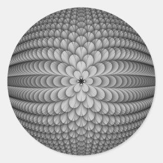 Monochrome Sphere Round Sticker
