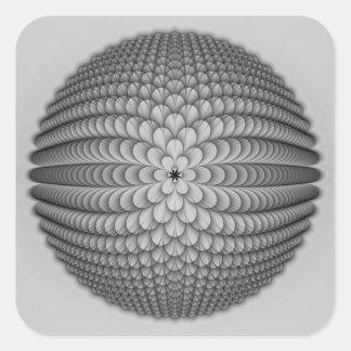 Monochrome Sphere Sticker
