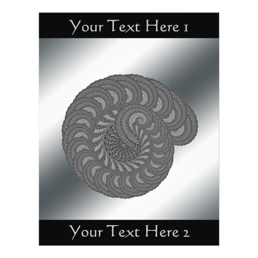 Monochrome Spiral Graphic. Flyers