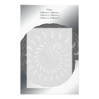 Monochrome Spiral Graphic Stationery Paper