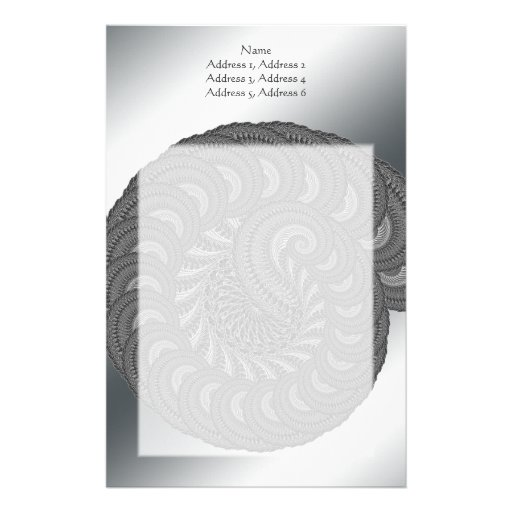 Monochrome Spiral Graphic. Stationery Paper