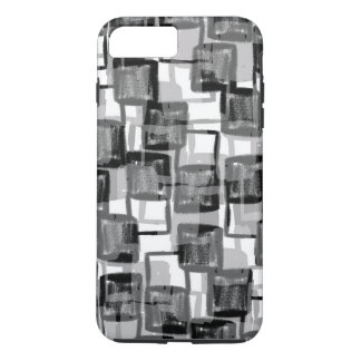 Monochrome Squares iPhone 7 Plus Case