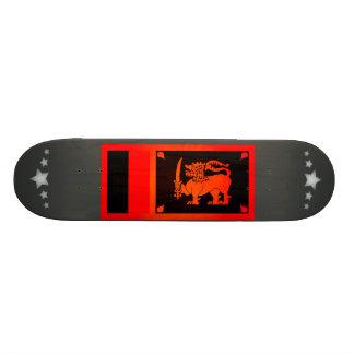 Monochrome Sri Lanka Flag Skate Board Decks