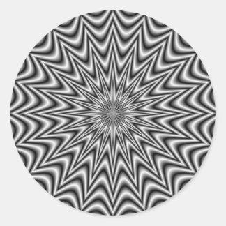 Monochrome Star Round Sticker
