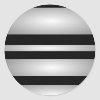 Monochrome Stripes Round Stickers