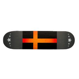 Monochrome Sweden Flag Skate Board