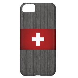 Monochrome Switzerland Flag iPhone 5C Case
