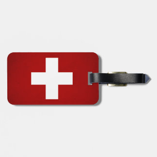 Monochrome Switzerland Flag Luggage Tag