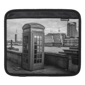 Monochrome Telephone Booth London Sleeves For iPads