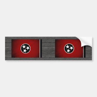 Monochrome Tennessee Flag Bumper Sticker