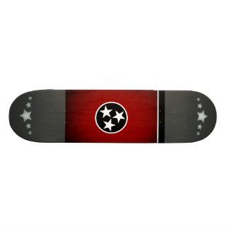 Monochrome Tennessee Flag Skate Deck