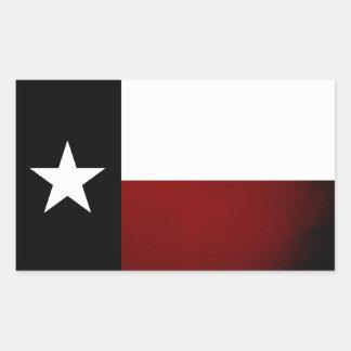 Monochrome Texas Flag Rectangular Sticker