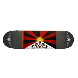 Monochrome Tibet Flag Skate Deck