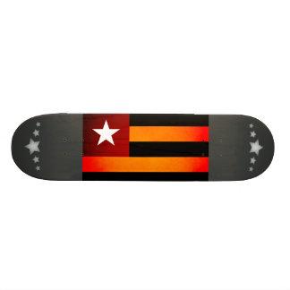 Monochrome Togo Flag Skateboard Deck