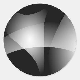 Monochrome Transition Round Sticker