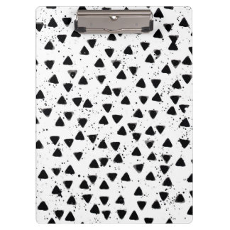 Monochrome Triangle Shape Pattern Office Clipboard