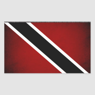 Monochrome Trinidad and Tobago Flag Rectangular Sticker