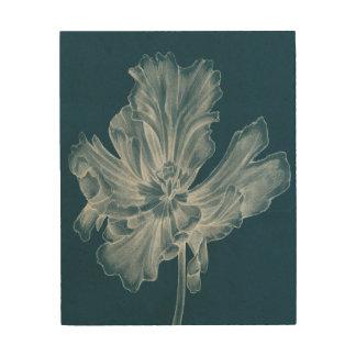 Monochrome Tulip II Wood Print