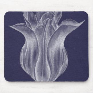 Monochrome Tulip III Mouse Pad
