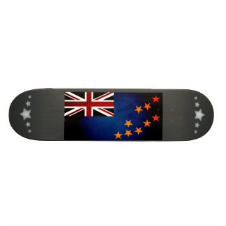 Monochrome Tuvalu Flag Skate Board