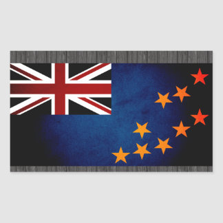 Monochrome Tuvalu Flag Sticker