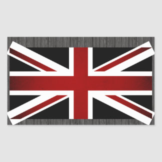 Monochrome United Kingdom Flag Rectangular Sticker
