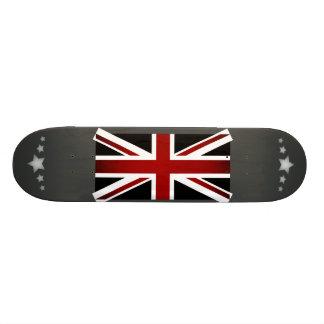 Monochrome United Kingdom Flag Skateboard Deck