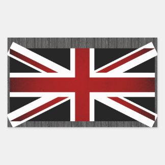 Monochrome United Kingdom Flag Rectangular Sticker