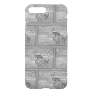 Monochrome Witch On A Broom iPhone 8 Plus/7 Plus Case