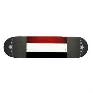 Monochrome Yemen Flag Skate Board