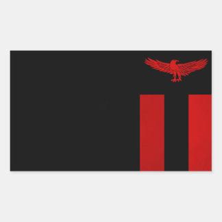 Monochrome Zambia Flag Sticker