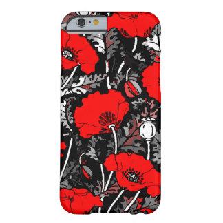 Monochromic Poppy Flower iPhone 6/6s Case