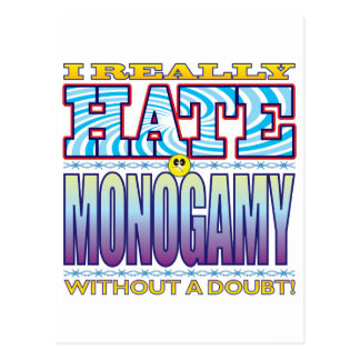 Monogamy Hate Face Postcard