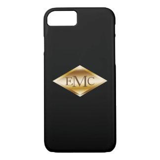 Monogram 3 Initials Gold Label iPhone 8/7 Case