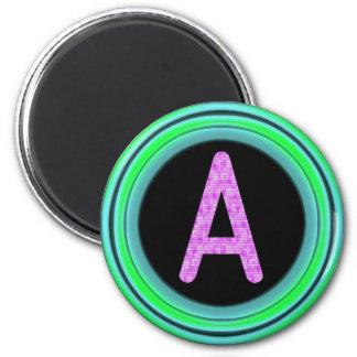 "Monogram ""A"" 6 Cm Round Magnet"