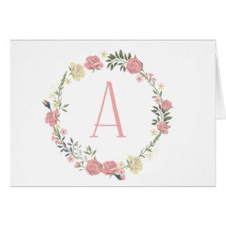 """Monogram """"A"""" Card"""