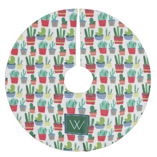 Monogram | A Crowd of Cactus Brushed Polyester Tree Skirt