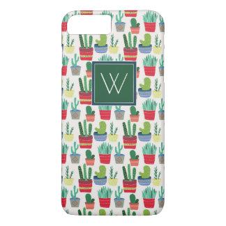 Monogram   A Crowd of Cactus iPhone 8 Plus/7 Plus Case