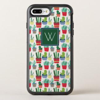 Monogram   A Crowd of Cactus OtterBox Symmetry iPhone 8 Plus/7 Plus Case