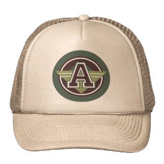 "Monogram ""A"" initial Mesh Hats"