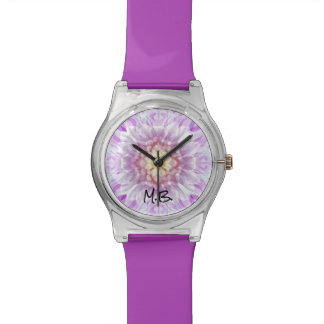Monogram Abstract Purple Design Watch