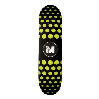 Monogram Acid green Polka Dots Pattern 21.6 Cm Skateboard Deck