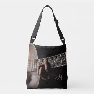 Monogram Acoustic Guitar Music Tote Bag