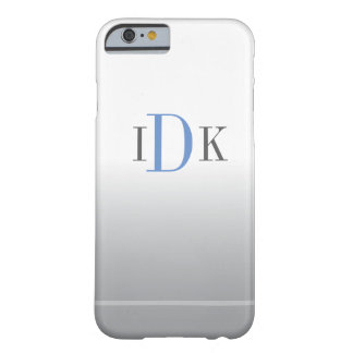 MONOGRAM  | add you initials on a light background Barely There iPhone 6 Case