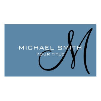 Monogram Air Force blue color background #2 Pack Of Standard Business Cards