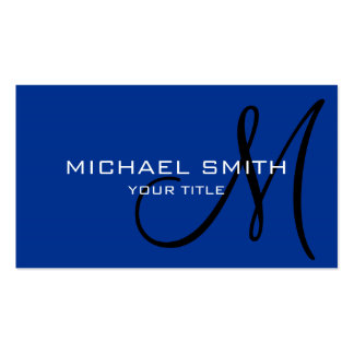 Monogram Air Force blue color background Pack Of Standard Business Cards