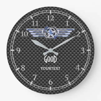 Monogram Air Pilot Chrome Like Star Wings on a Large Clock