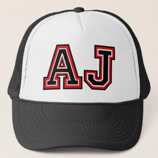 Monogram 'AJ' initials Trucker Hat